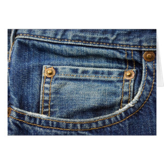 Denim - Blue Jean Pocket Greeting Card