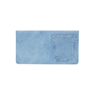 Denim blue jean pocket checkbook cover
