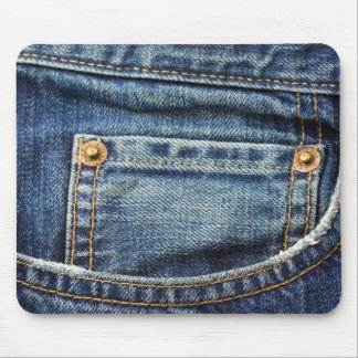 Denim - Blue Jean Pocket Mouse Pad