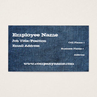 Denim Blue Jeans Business Card Template