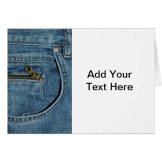 Denim Blue Jeans Card