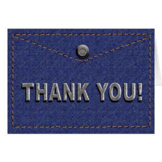 "DENIM ""Blue Jeans"" Look THANK YOU Cards"