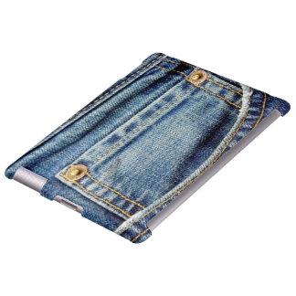 Denim blue jeans old tatty pocket ipad case
