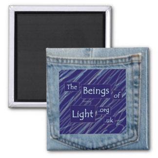 Denim Blue Jeans Pocket Beings of Light Magnet