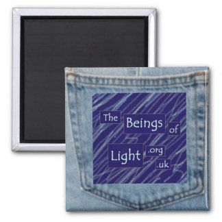Denim Blue Jeans Pocket Beings of Light Magnet Mid