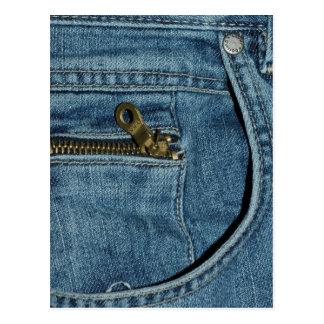 Denim Blue Jeans Postcard