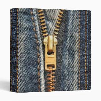Denim Blue Jeans Print Binder