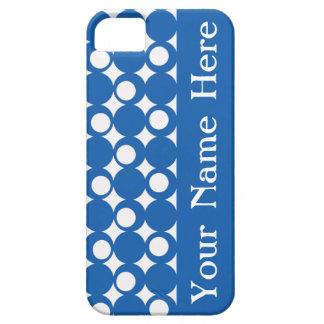 Denim Blue Mod Ball Design with name iPhone SE/5/5s Case