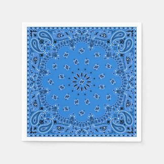 Denim Blue Paisley Bandana Scarf BBQ Picnic Napkin