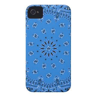 Denim Blue Paisley Western Bandana Scarf Print Case-Mate iPhone 4 Case