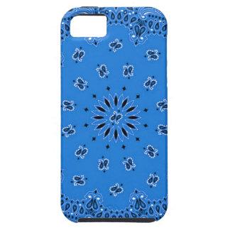 Denim Blue Paisley Western Bandana Scarf Print iPhone SE/5/5s Case