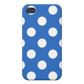 Denim Blue Polka Dot Iphone Case