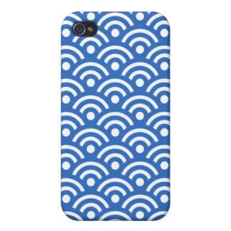 Denim Blue Seigaiha Design Iphone 4/4S Case