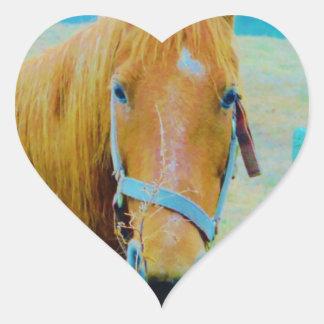 Denim blue tinted Horse Heart Sticker