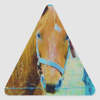 Denim blue tinted Horse Triangle Sticker