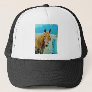 Denim blue tinted Horse Trucker Hat