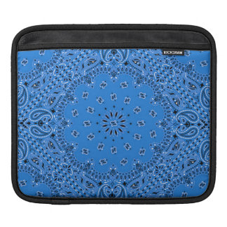 Denim Blue Western Bandana Paisley Scarf Fabric iPad Sleeve