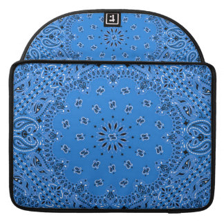 Denim Blue Western Bandana Paisley Scarf Fabric Sleeve For MacBook Pro