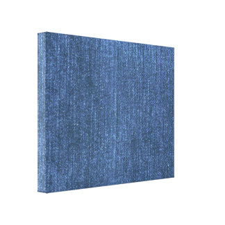 Denim Blues Gallery Wrapped Canvas