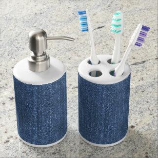 Denim Blues Toothbrush Holder
