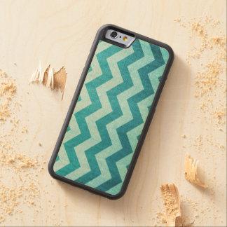 Denim Chevron Carved Maple iPhone 6 Bumper Case