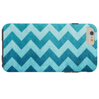Denim Chevron Tough iPhone 6 Plus Case