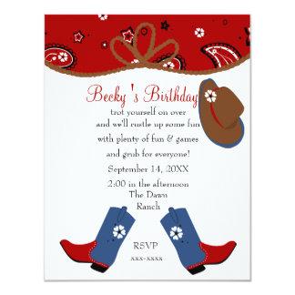 Denim Cowgirl Birthday Invitation