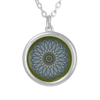 Denim Daisy Silver Plated Necklace