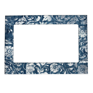navy magnetic picture frames zazzle. Black Bedroom Furniture Sets. Home Design Ideas