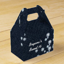 Denim & Diamonds Birthday Party Favor Boxes