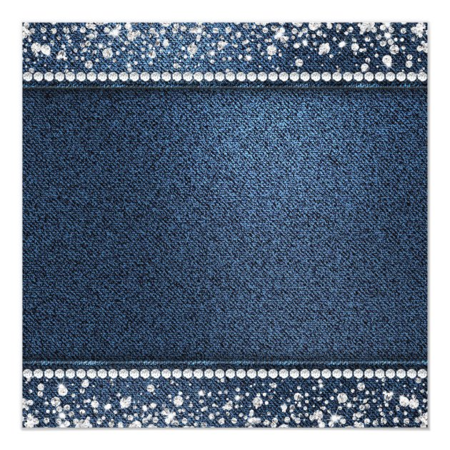 Denim Diamonds Ethnic Gender Reveal Shower Card | Zazzle.com