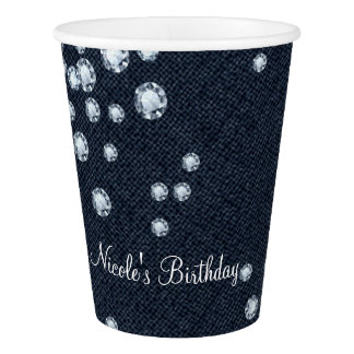 Denim & Diamonds Glam Birthday Party Paper Cups