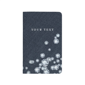Denim & Diamonds Glam Pocket Book Journal Notebook