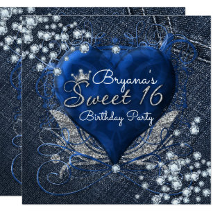 Crown Sweet 16 Invitations Zazzle