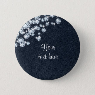 Denim & Diamonds Jean Princess Birthday Pin BUTTON