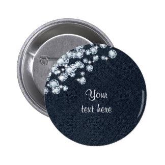 Denim & Diamonds Jean Princess Birthday Pin BUTTON