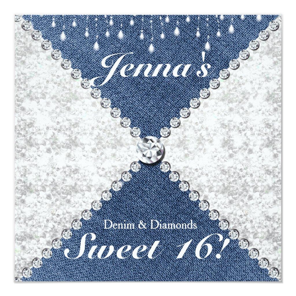 Denim And Diamonds Invitation Ideas Antal Expolicenciaslatam Co