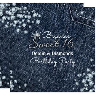 Denim And Diamonds Party Invitations Announcements Zazzle