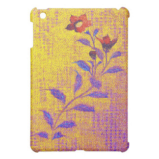 Denim Flower - gold - iPad Case
