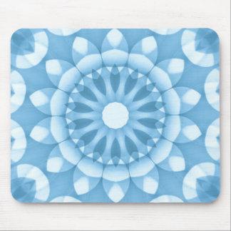 Denim Flower Kaleidoscope Mouse Pad