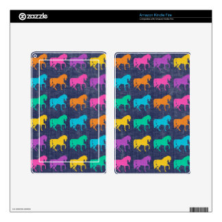 Denim Glitter Horses Design Decals For Kindle Fire