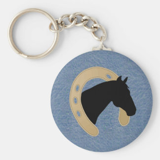 Denim & Horseshoe KEYCHAIN