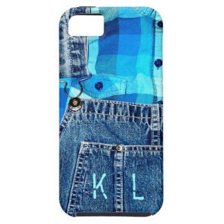 Denim Jean Overalls and Plaid Shirt iPhone SE/5/5s Case
