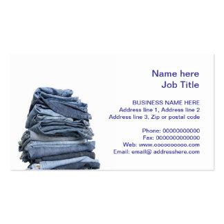 denim jeans fashion business card