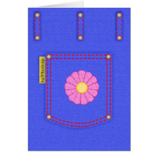 Denim Jeans Pocket blank card