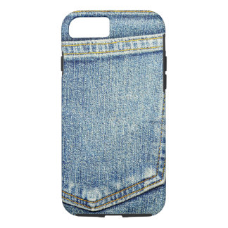 Denim Jeans Pocket Blue Fabric style fashion rich iPhone 7 Case