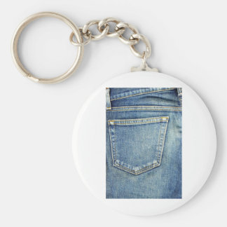 Denim Jeans Pocket Blue Fabric style fashion rich Keychain