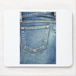 Denim Jeans Pocket Blue Fabric style fashion rich Mouse Pad