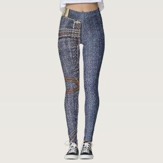 Denim Jeans Pocket & US Money Leggings