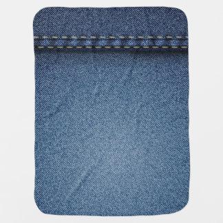 Denim Jeans Texture Receiving Blanket